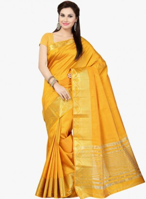 Buy IshinYellow Embellished Saree Online