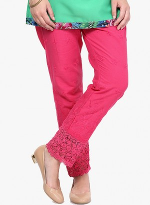 Buy Castle Pink chikankari Embroidered Palazzo Online