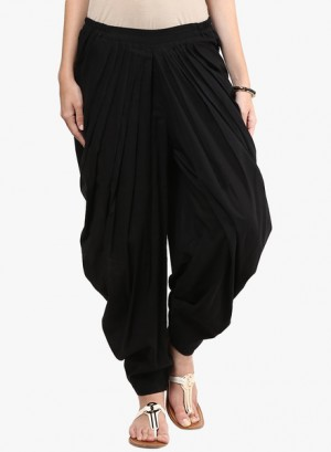 Buy Design House Black Solid Harem Pant Online