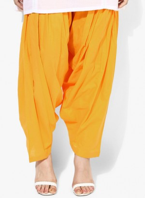 Buy Melange by Lifestyle Yellow Solid Salwar Online
