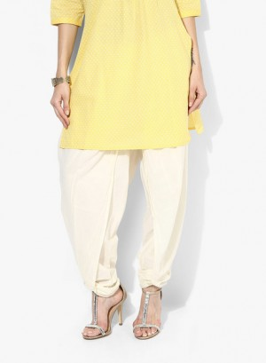 Buy Rangmanch By Pantaloons Off White Solid Cotton Salwar Online