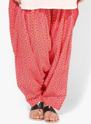Buy Aurelia Red Printed Patiala Online