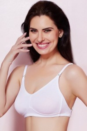 Buy  Rosaline Double Layered Wirefree Comfort Backless Bra  White Online