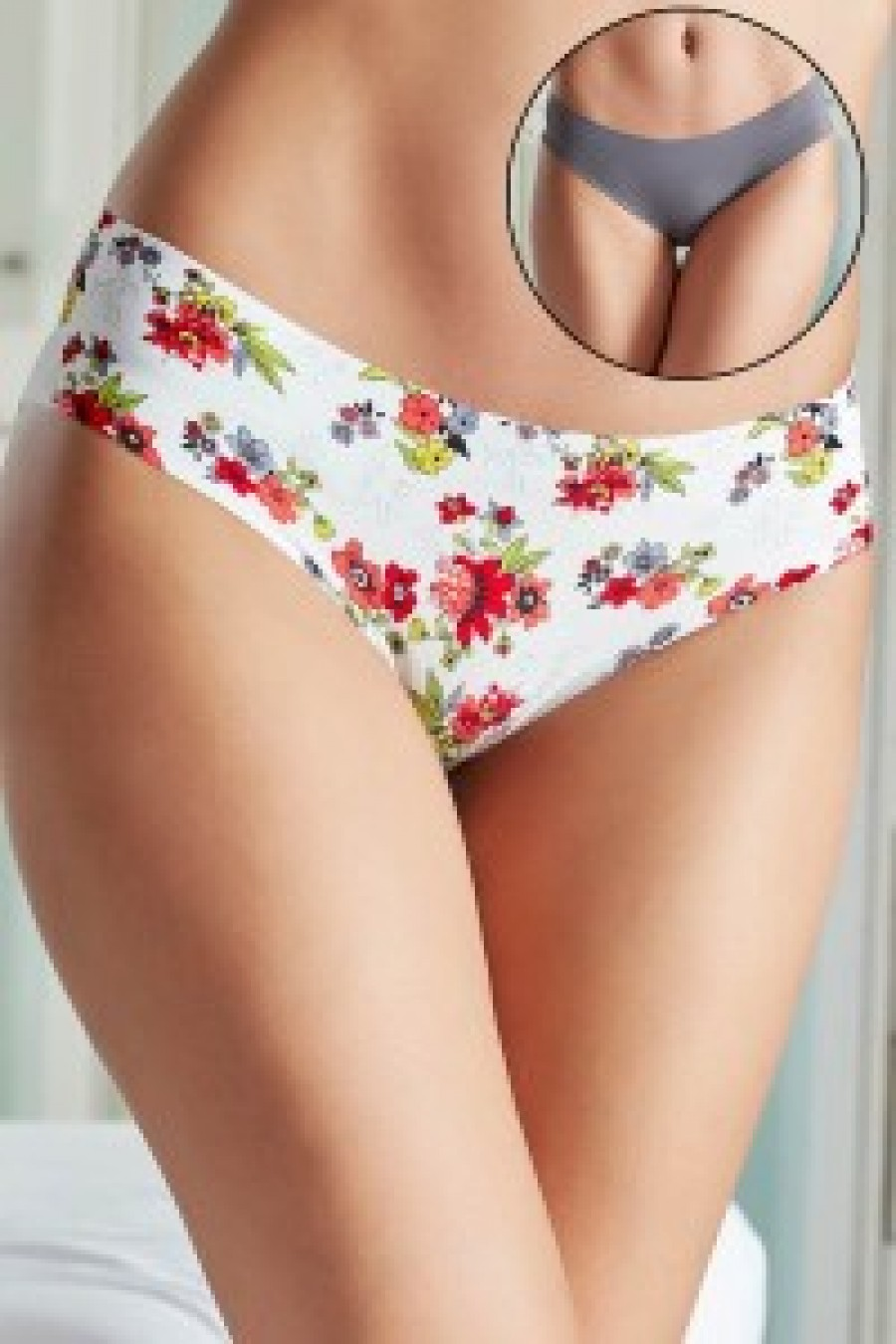 6a70d76dd7 Buy Penny No Panty Line Laser Cut Garden Chic Floral N Solid Briefs Pack of  2