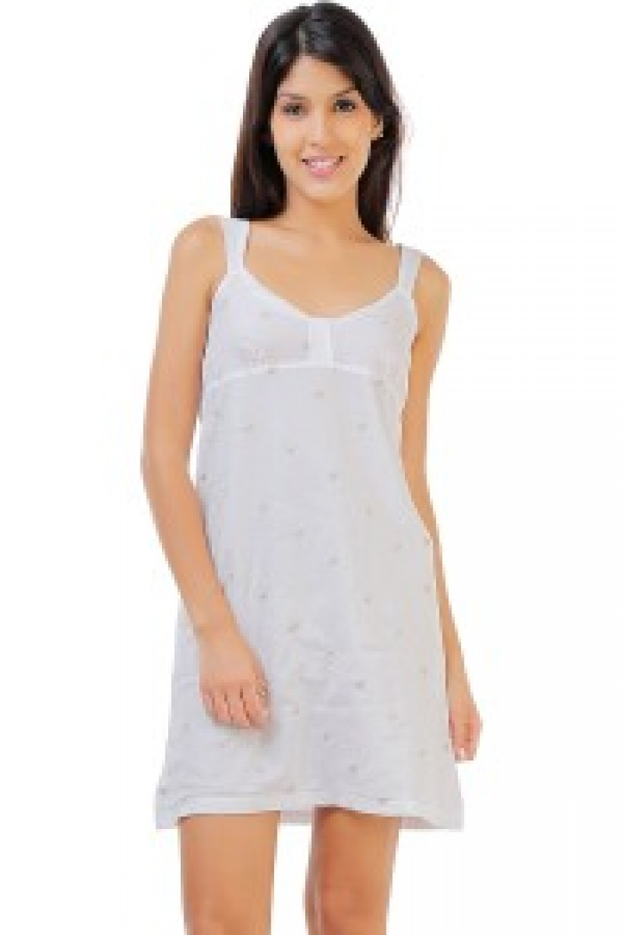 80f34f46d1 Buy Penny Dreamwear Fine Cotton Embroidered Soft Nightdress White Online