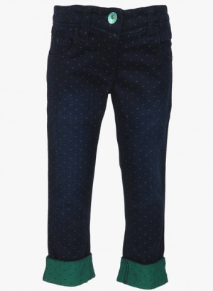 Buy  United Colors of Benetton Navy Blue Capri Online