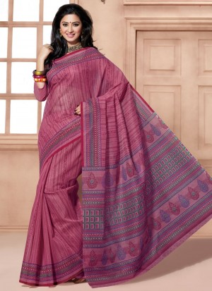 Buy Precious Print Work Multi Colour Cotton Casual Saree Online