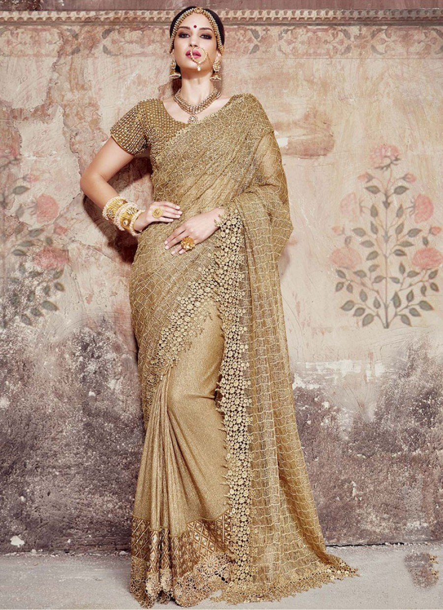 1b48519592 Shop for Prominent Fancy Fabric Patch Border Work Designer Saree ...