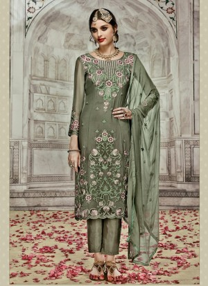 Buy Splendid Resham Work Designer Suit Online