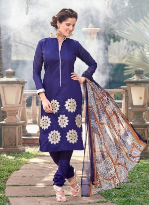 Buy Surpassing Chanderi Cotton Churidar Designer Suit Online