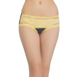 Buy  NAVY HIPSTER WITH CONTRAST LACY WAISTBAND Online