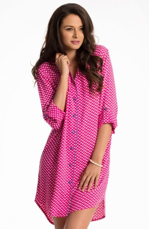 Buy  Prettysecrets Fuchsia Heart Snuggle Up Sleepshirt Online