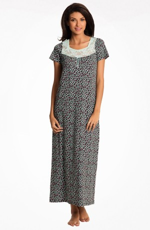 Buy  Prettysecrets Wild Mint Print Play Long Nightdress Online