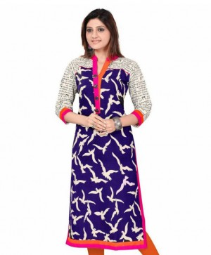 Buy Amazing Printed Formal Wear Beautiful Cottan Kurti Online