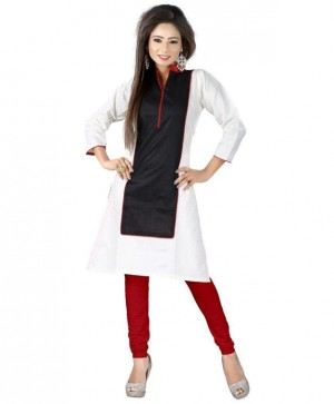 Buy Attractive Cotton White Designer Long Kurti Online