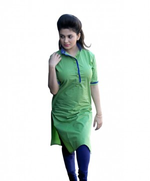Buy Sweet and Simple Beutifual Green Kurti Online