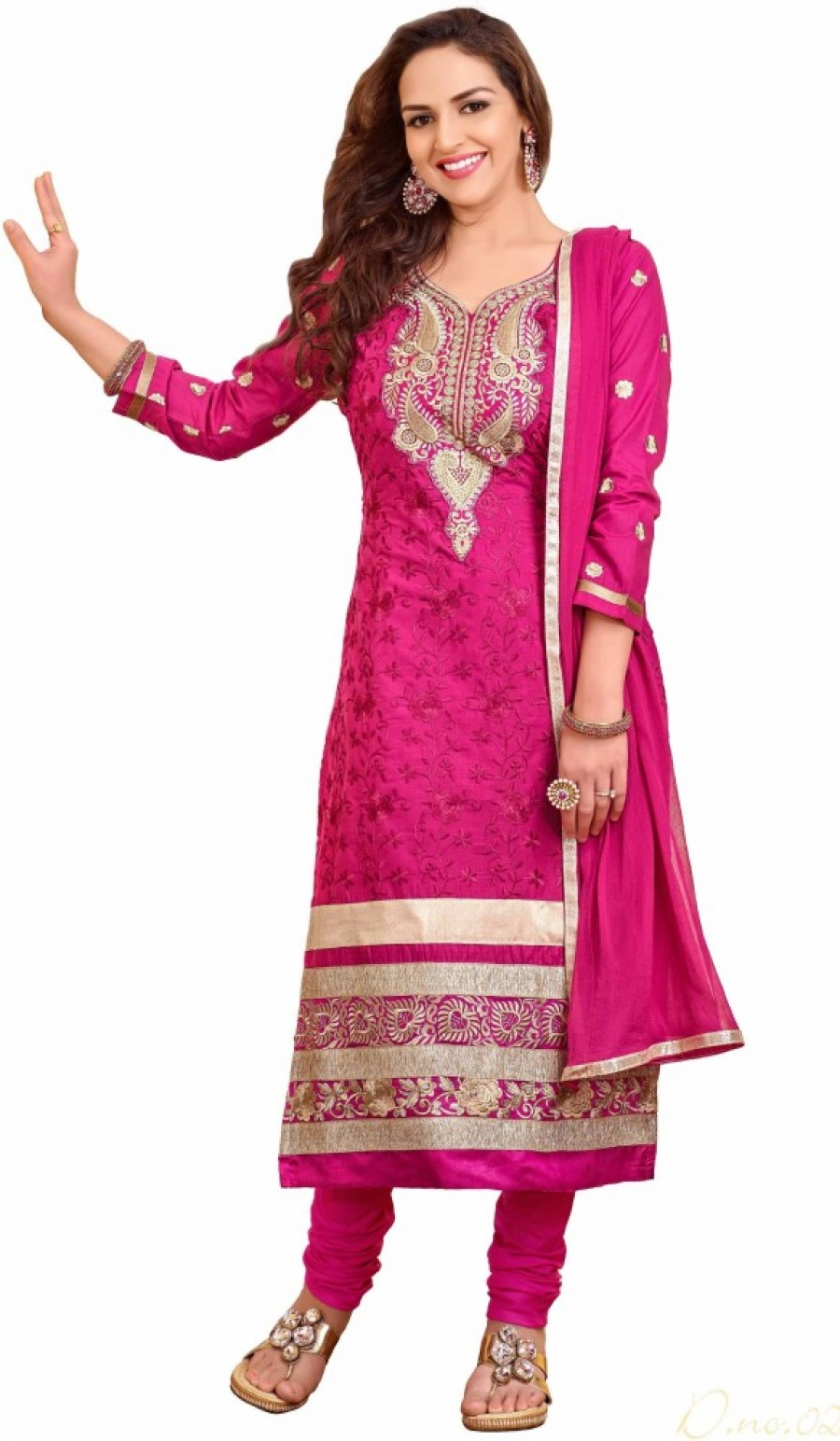 Buy Khushali Cotton Self Design Salwar Suit Dupatta Material Online