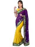 Tejaswini Self Design Fashion Viscose Sari