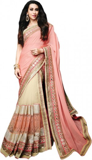 Buy Khantil Embriodered Fashion Georgette Sari Online