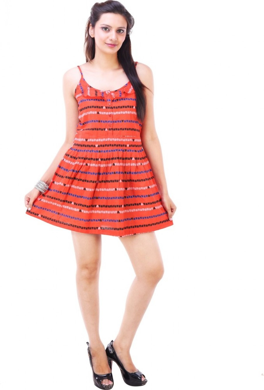 Buy  Goodwill Impex Womens A line Multicolor Dress Online