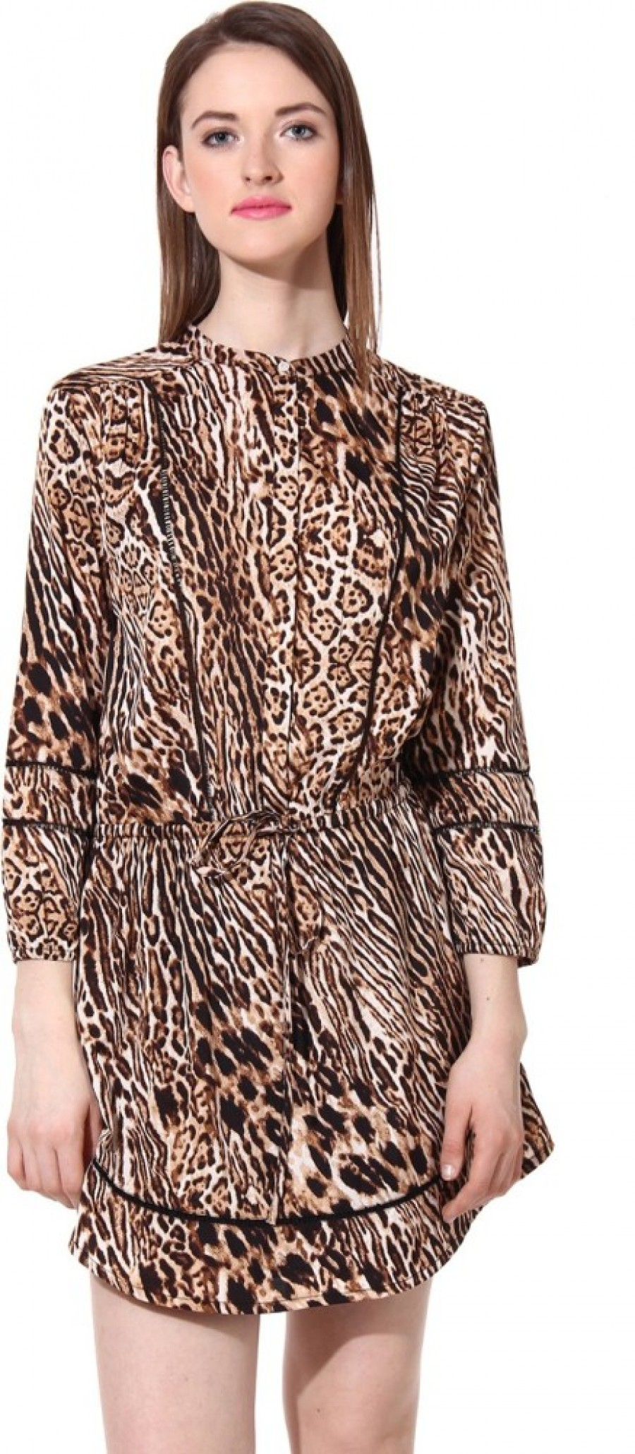 Buy  Oxolloxo Womens A line Brown Dress Online
