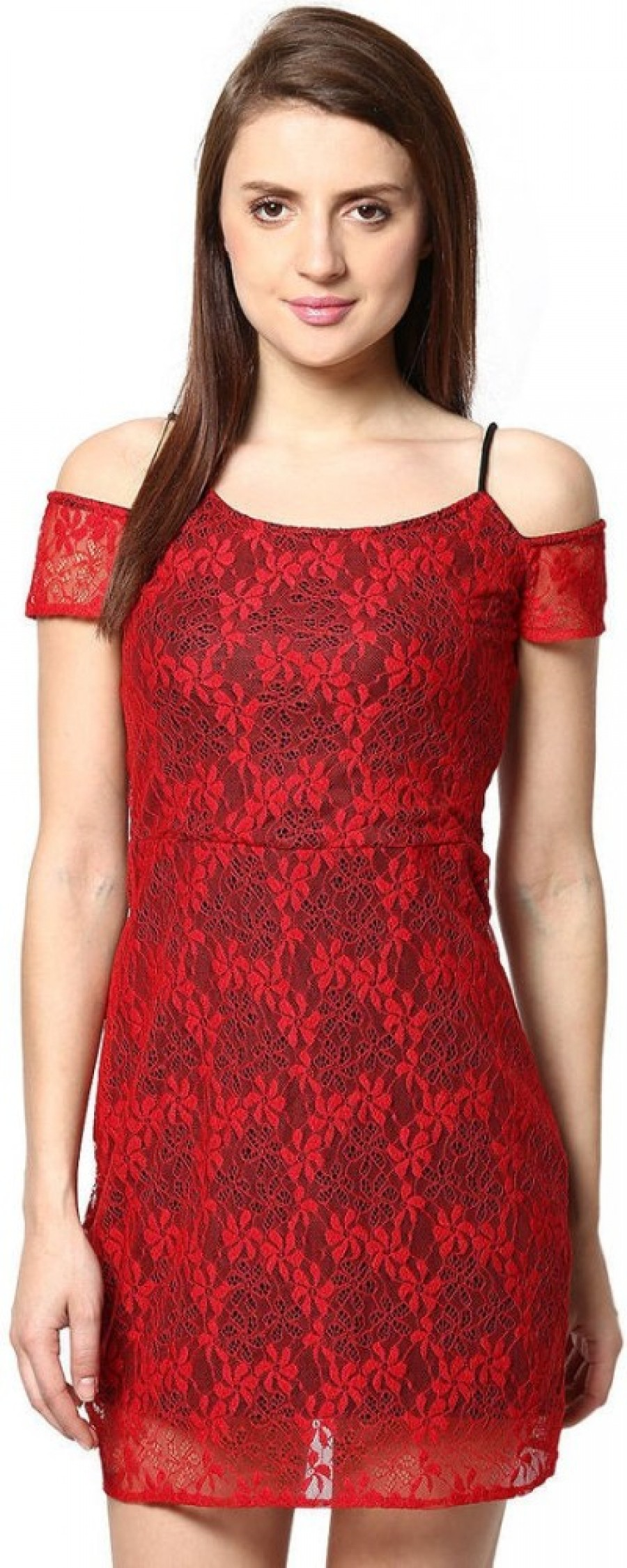 Buy  The Vanca Womens A line Red Dress Online