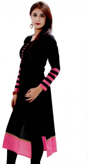 Buy Sai Fabrics Casual Self Design Womens Kurti Online