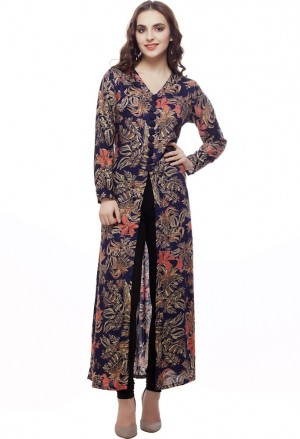 Buy Big Pout Party Casual Wedding Floral Print Womens Kurti Online