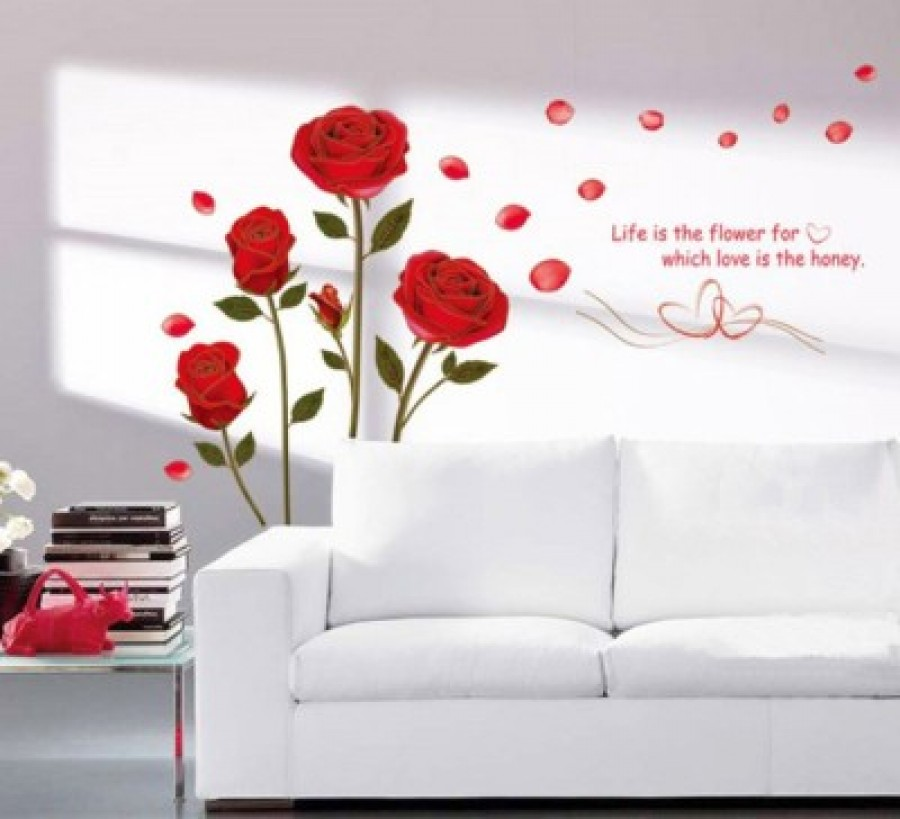 Buy  happy walls Medium PVC vinyl Sticker Online