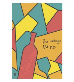 Buy  Hulkut Paper 24 x 36 Inch Vintage Wine Unframed Digital Art Print Online