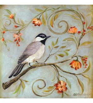 Buy  Wall Decor Canvas 24 x 24 Inch Cute Sparrow Framed Digital Art Print Online