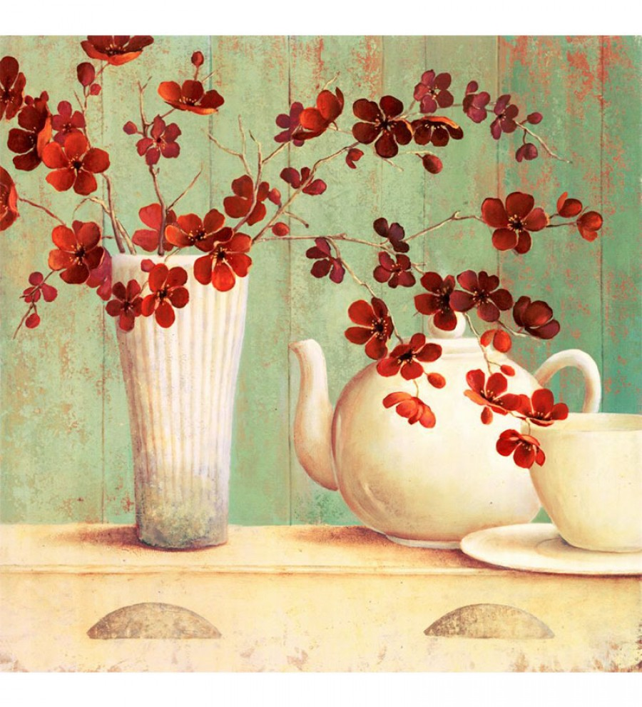 Purchase | Wall Decor Canvas 24 x 24 Inch Flora Europa Red Framed ...