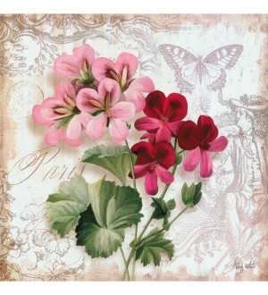 Buy  Wall Decor Canvas 24 x 24 Inch Flowers Framed Digital Art Print Online