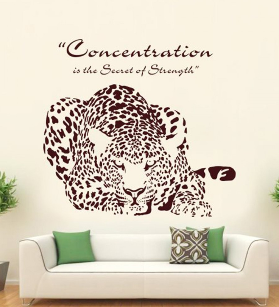 Buy  Hoopoe Decor Brown Vinyl Concentration is the Secret of Strength Wall Decal Online