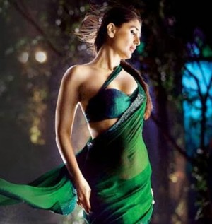 Buy Kareena Green Faux Georgette Bollywood Replica Saree Online