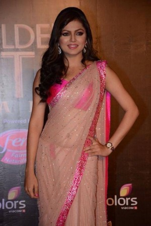 Buy Drashti Dhami Beigh Bollywood Replica Saree  Online