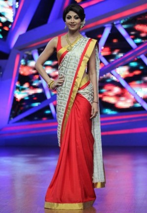 Buy Shilpa Shetty in Masaba Designer Bollywood Replica Saree Online