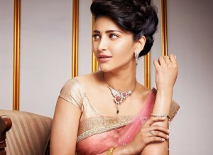 Buy Shruti Haasan Light Pink Designer Saree Online