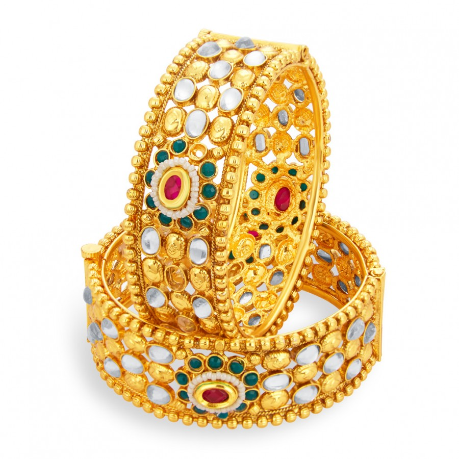 Buy Sukkhi Incredible Gold Plated American Diamond Bangle For Women Online