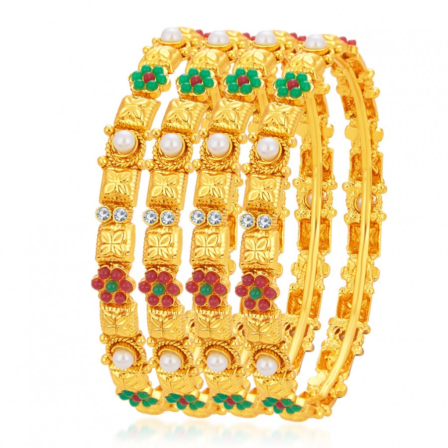 Buy Sukkhi Ethnic Gold Plated Bangle For Women Online