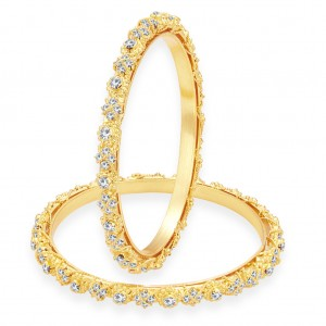 Buy Sukkhi Magnificent Gold Plated AD Bangle For Women Online