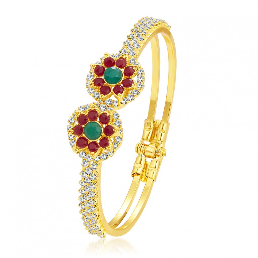 Buy Sukkhi Attractive Gold Plated AD Kada For Women Online