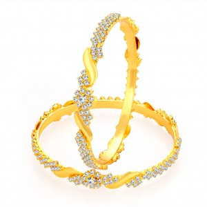 Buy Sukkhi Modish Gold Plated AD Bangle For Women Online