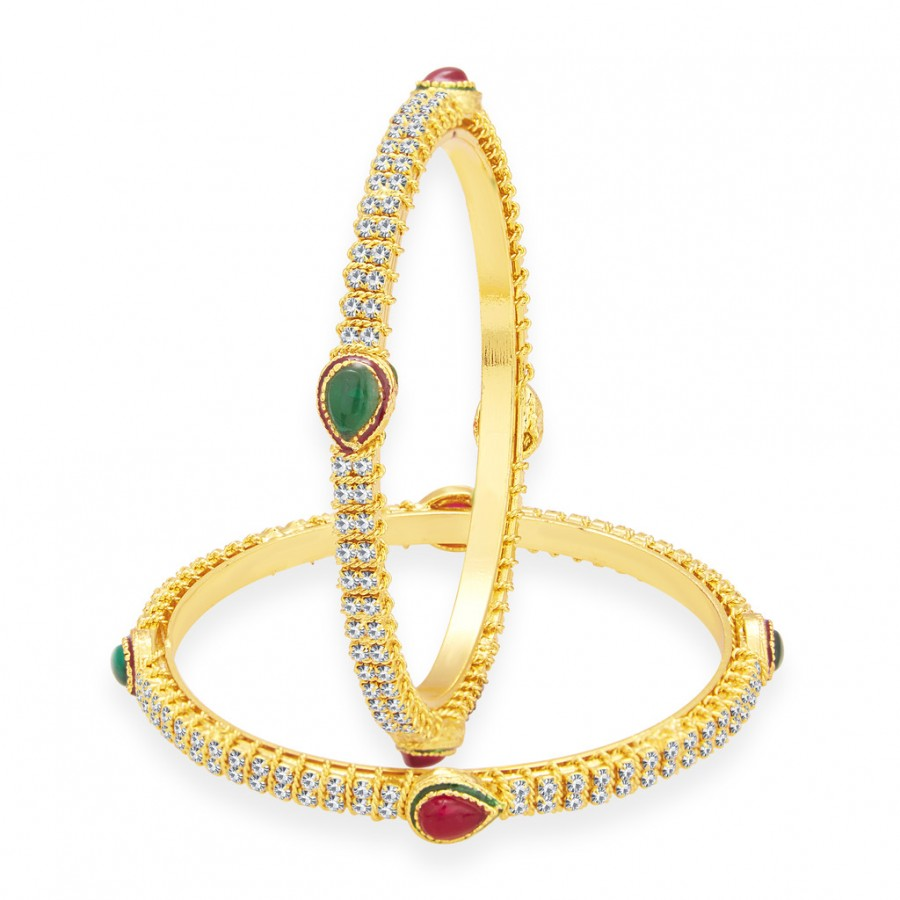 Buy Sukkhi Glorious Gold Plated AD Bangle For Women Online
