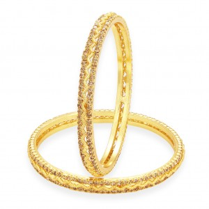 Buy Sukkhi Shimmering LCT Stone Gold Plated AD Bangle For Women Online
