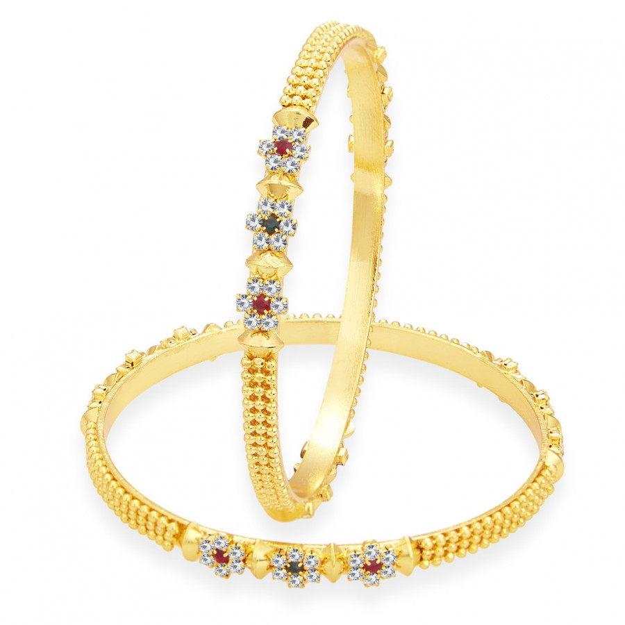 Buy Sukkhi Attractive Gold Plated AD Bangle For Women Online