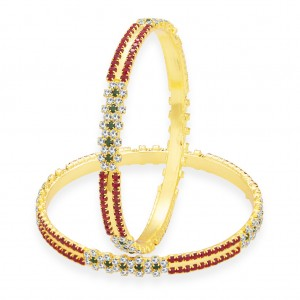 Buy Sukkhi Exotic Gold Plated AD Bangle For Women Online