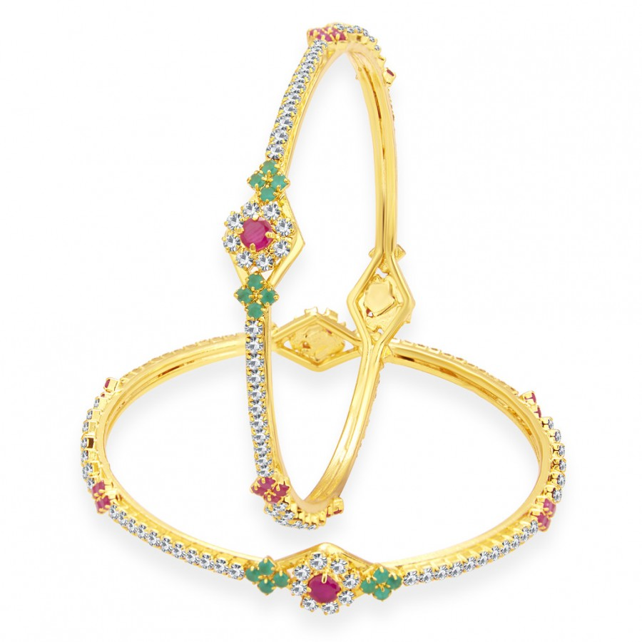 Buy Sukkhi Amazing Gold Plated AD Bangle For Women Online