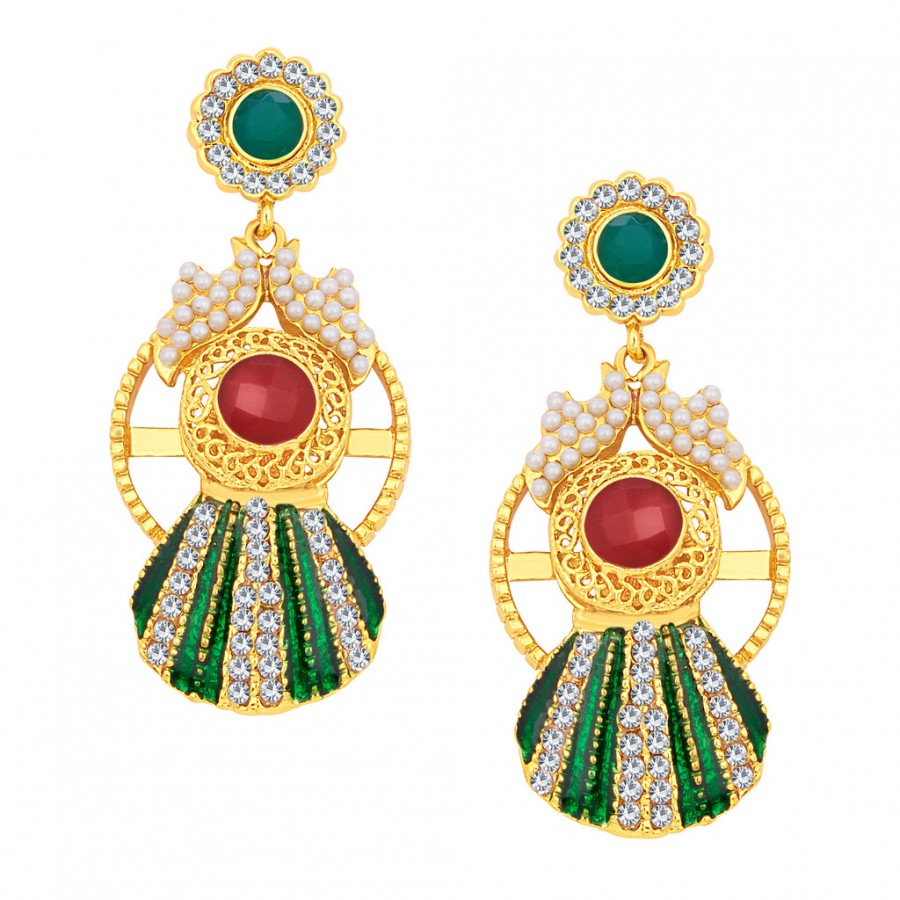 Buy Sukkhi Fine Gold Plated AD Earring For Women Online
