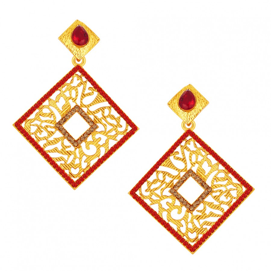 Buy Sukkhi Delightly Gold Plated AD Earring For Women Online